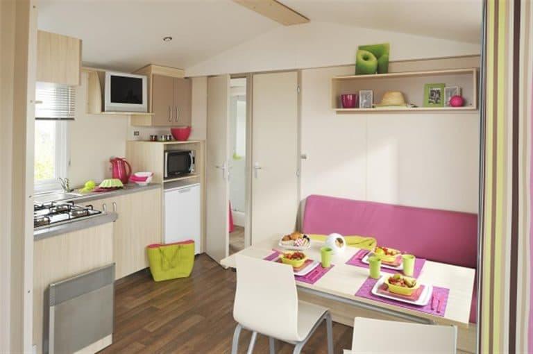MH Confort 24 m² 2 ch 4/6  pers + lit bébé